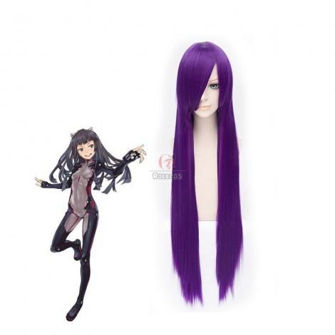 100cm Straight Purple Guilty Crown Shirakiin Riricho Cosplay Wig