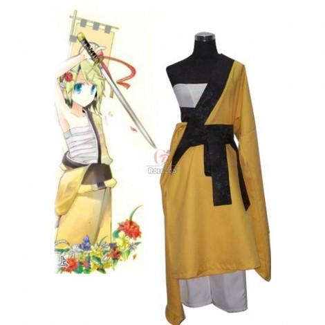 Vocaloid Gekokujō Kagamine Rin/Ren Kimono Cosplay Costume