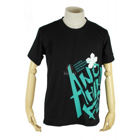 The ANOHANA PROJECT luminous Cosplay Custome with black short sleeves