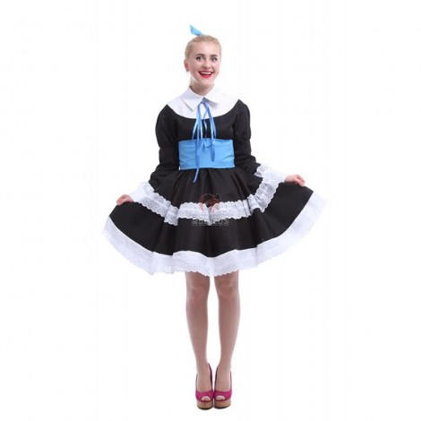Panty & Stocking With Garterbelt Stockings Cosplay Black Dress Costumes