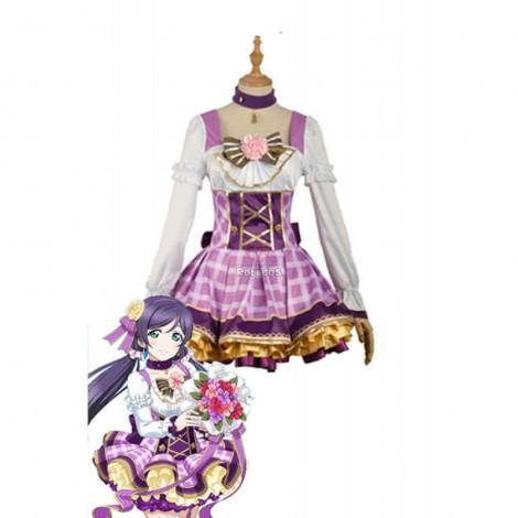Love Live Bouquet Awaken Tojo Nozomi Purple Dress Anime Cosplay Costumes