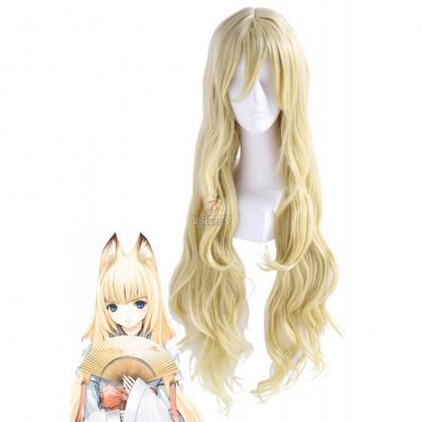 Our Home's Fox Deity Wagaya no Oinari-sama Long Straight Blonde Cosplay Wig