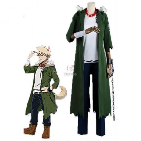 Anime My Hero Academia Katsuki Bakugō Halloween Green Cosplay Costumes