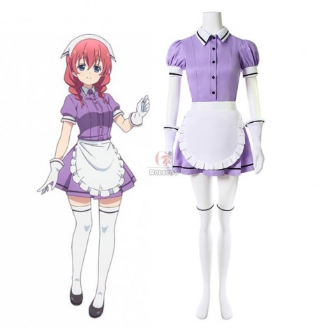 Blend S Miu Amano Purple Anime Cosplay Costumes