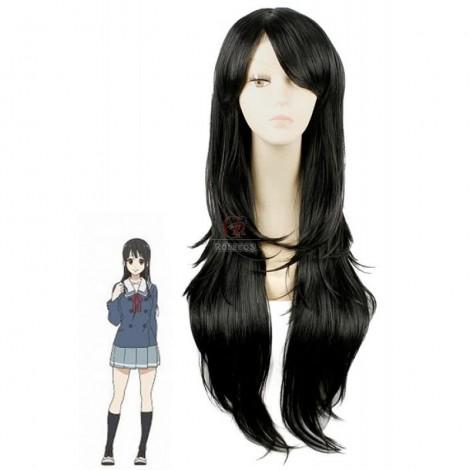 Beyond the Boundary Mitsuki Nase Black Long Anime Cosplay Wigs
