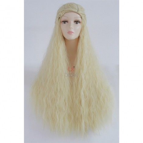 90cm Long Blonde Cosplay Wig Daenerys Anime Hair