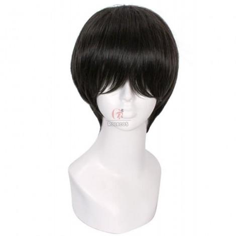 20cm Nase Hiroomi Cosplay Wig Short Black Hair