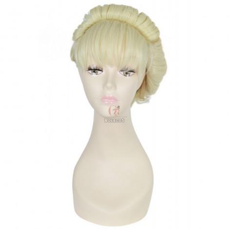 25cm Short blonde elsa cosplay wig coronation series