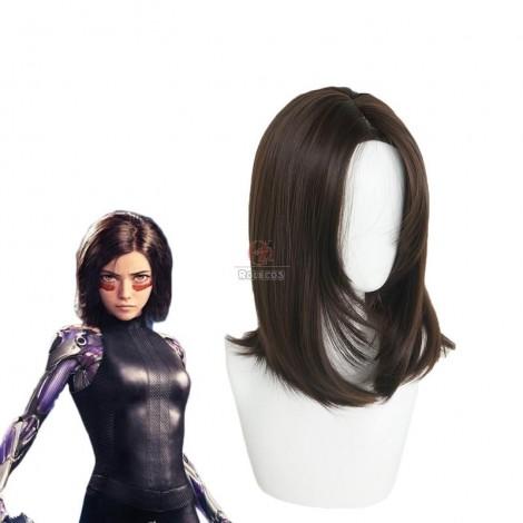 Alita: Battle Angel Alita Short Brown Wig Cosplay Wigs