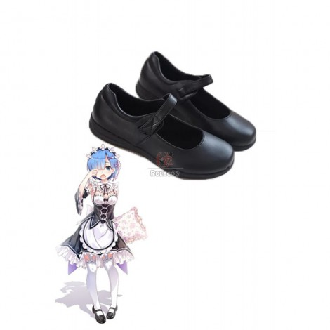 Re:ZERO -Starting Life in Another World Rem Ram Anime Cosplay Shoes Uniform Shoes