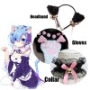 Black And White Cat Ears Tail Cat Claw Cos Props Headwear Cosplay