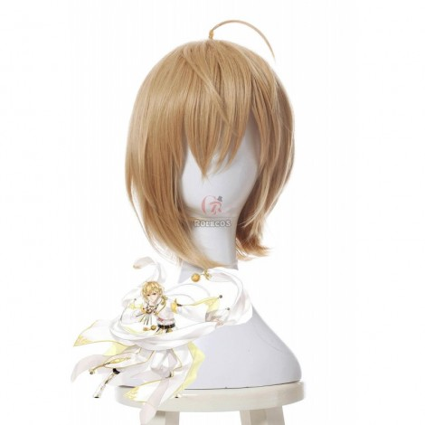 Jinlingsuo Mengjinaji 30cm Golden Game Cosplay Wigs