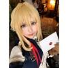 Anime Violet Evergarden Violet Evergarden Synthetic Short Blonde Cosplay Wigs