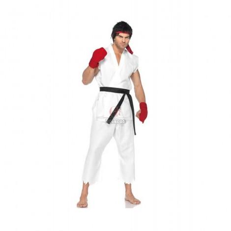 Street Fighter Ryu Cosplay Karate Licensed Halloween Costume