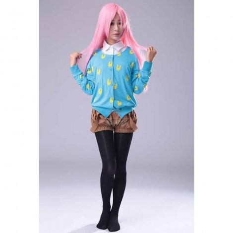 Super Sonico Blue Rabbit Printed Sweater Brown Bloomer Cosplay Costume
