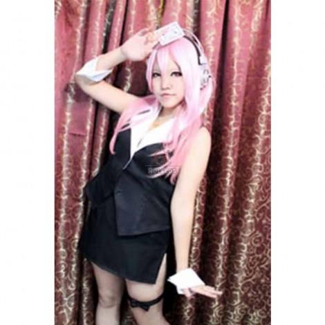 Super Sonico Black Casino Uniform Cosplay Costume