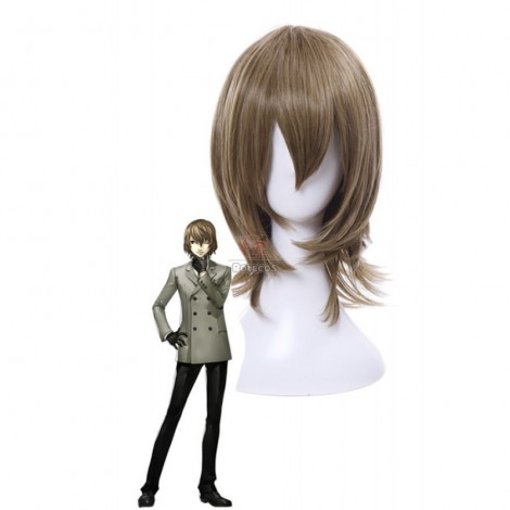 Persona 5 Goro Akechi Short Curly Flaxen Synthetic Men Cosplay Wigs