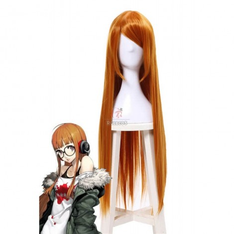 65cm Long Persona 5 Futaba Sakura Cosplay Wigs Golden Woman Wigs