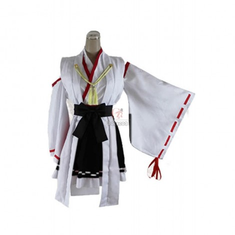 Kantai Collection KanColle Cosplay Haruna Kongou Black Dress Costume