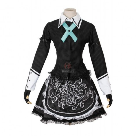 Castlevania Sakuya Izayoi Black French Maid Cosplay Costume