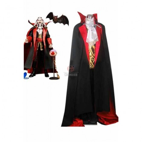 Castlevania Vampire Dracula Cosplay Costume Black And Red Suit