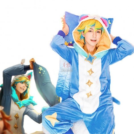 LOL Pajama Guardian Ezreal Cosplay Costume
