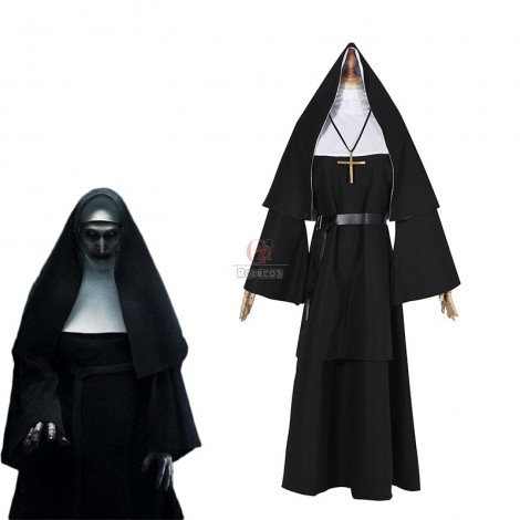 2018 Horror Movie The Nun Trailer Valak Sister Cosplay Costumes The Conjuring Women Halloween Costumes